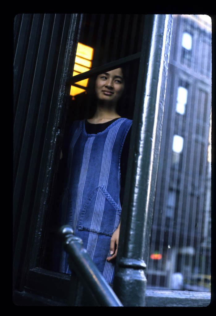 Girl in window Oman Restaurant