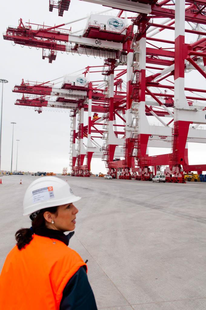 View of the Port of Barcelona. Tercat new terminal. EstefanÌa Soler Babra, project office coordinator
