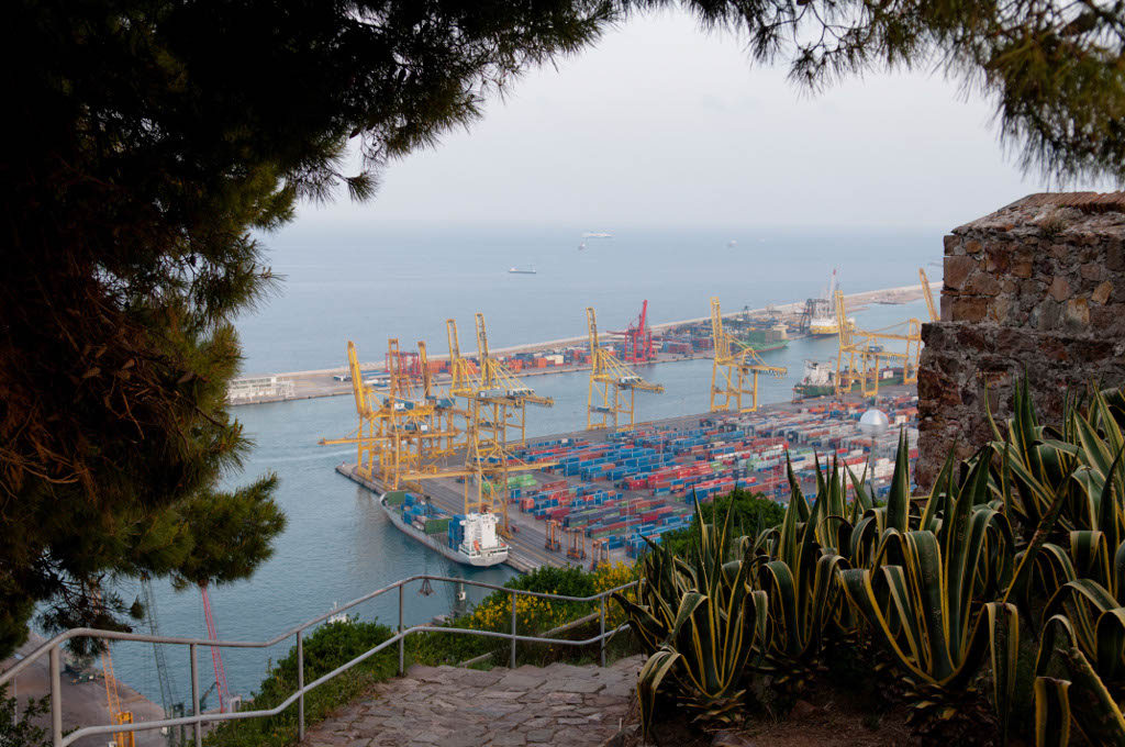 View of the Port of Barcelona.