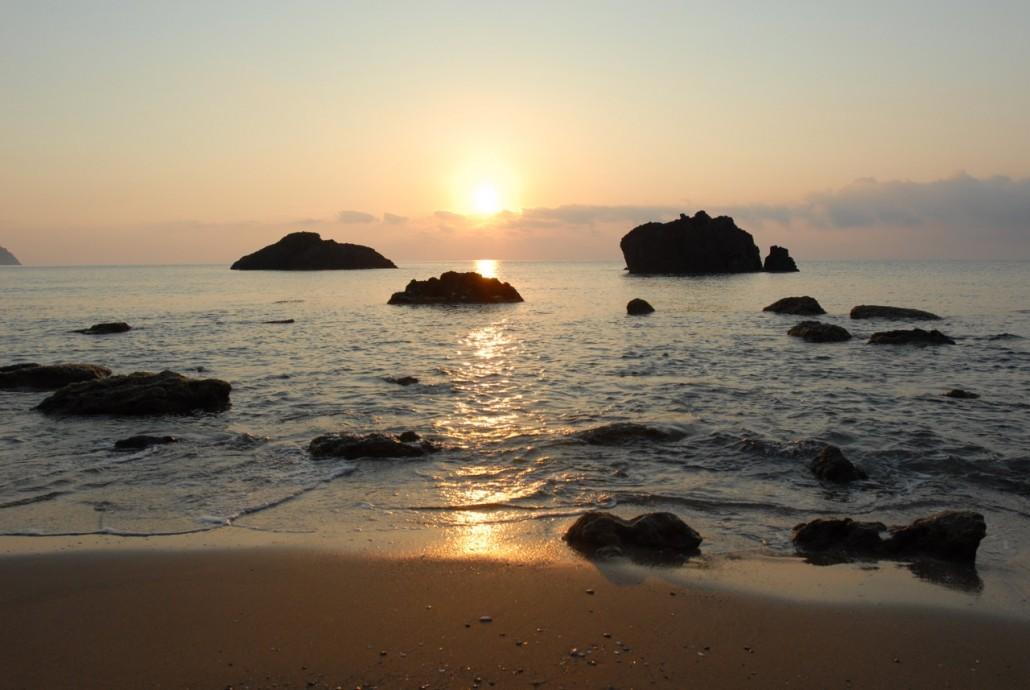 Early morning in Aguas Blancas beach