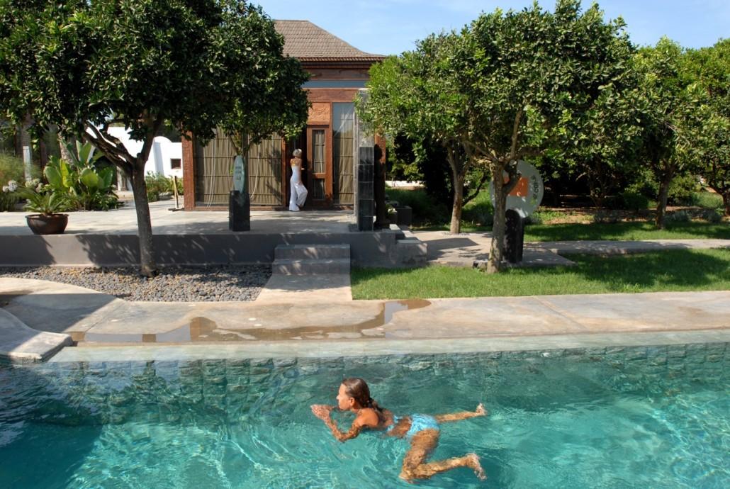 Spa in the restored finca Atzaro