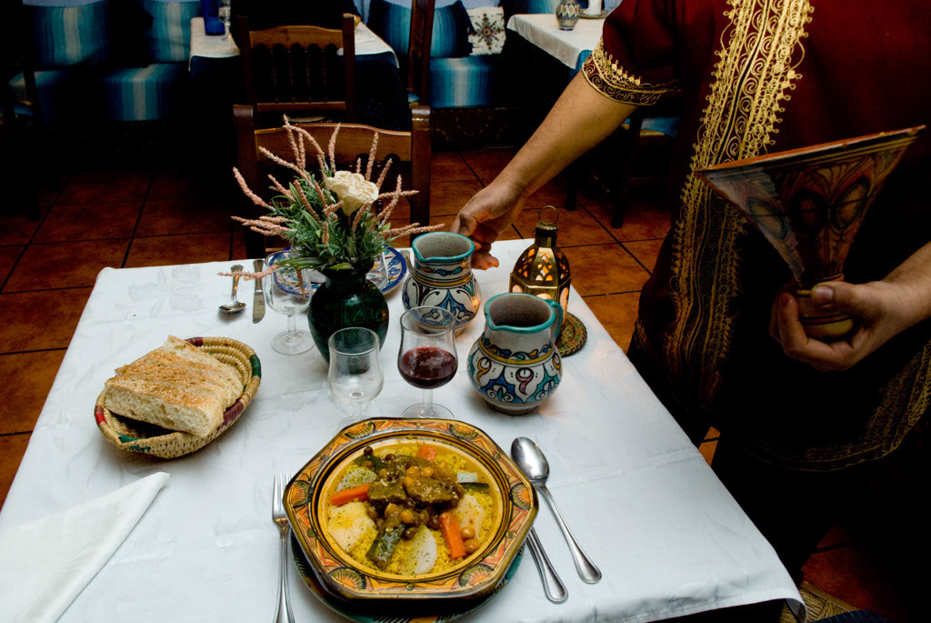 Valencia, Spain. The restaurant araban-andalusian Balansiya.
