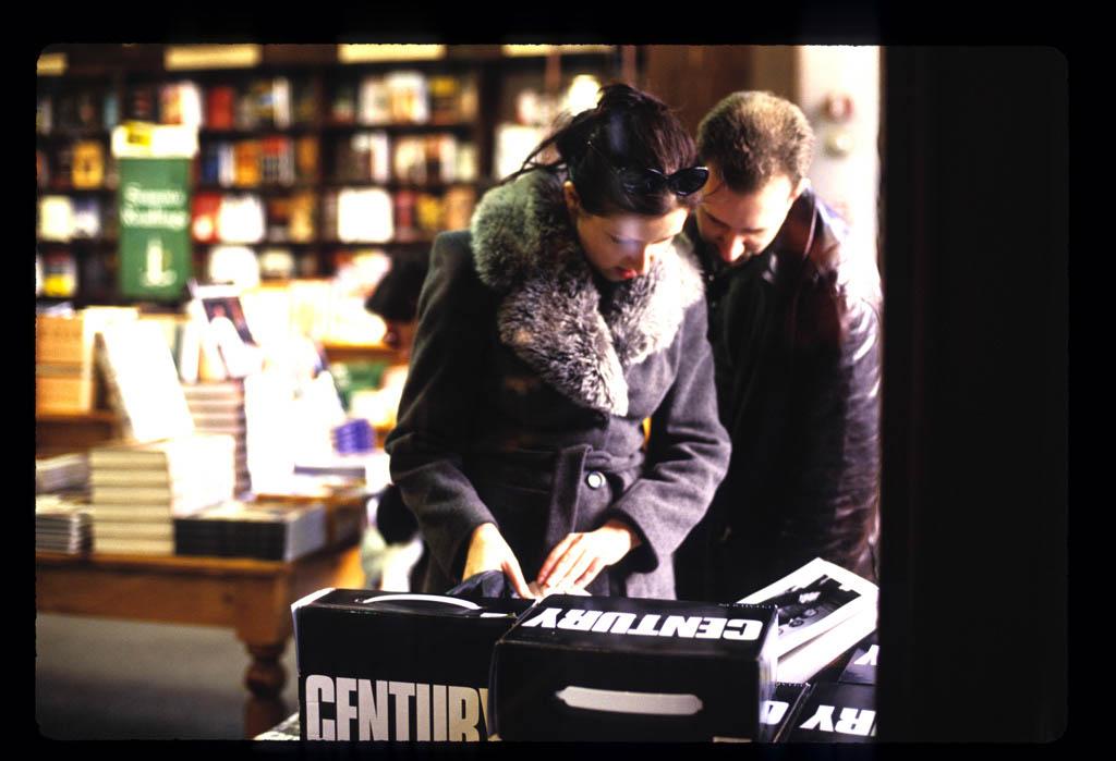 Couple in a bookstore at Union Square
