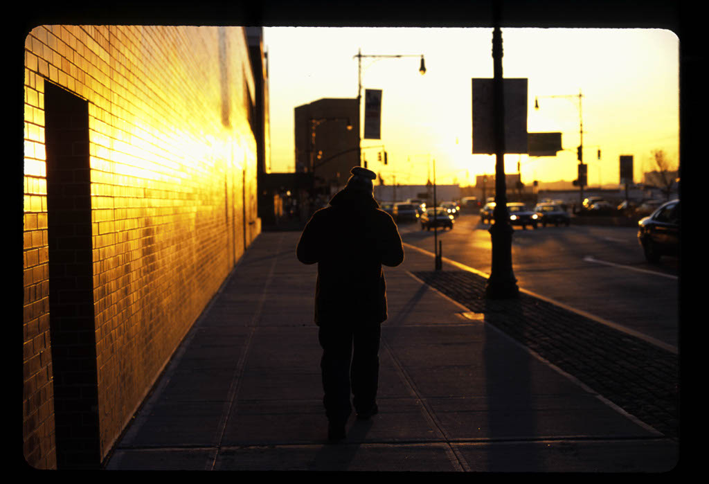 Man walking at the Twelfth Ave.