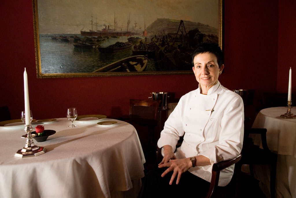 Ms. Ruscalleda in the restaurant's dinining room