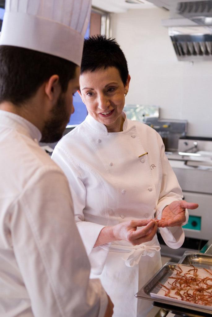 Ms. Ruscalleda in the restaurant's kitchen