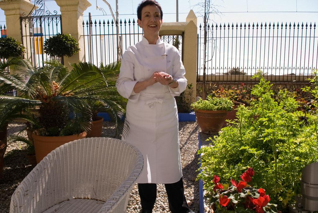 Ms. Ruscalleda in the restaurant's garden
