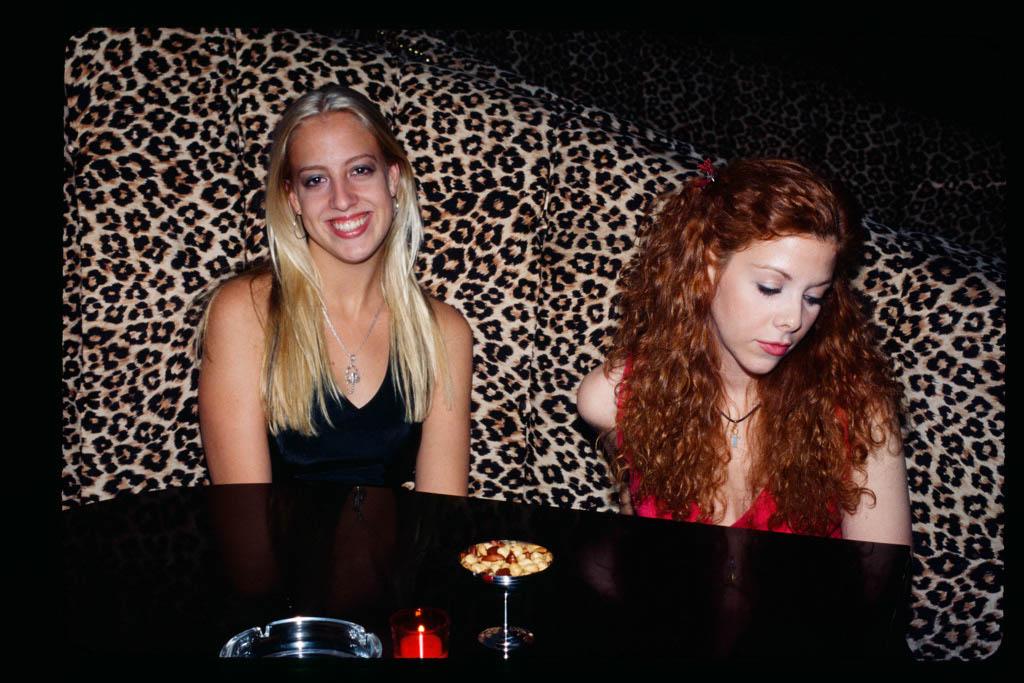 Two young women Cheeta Club