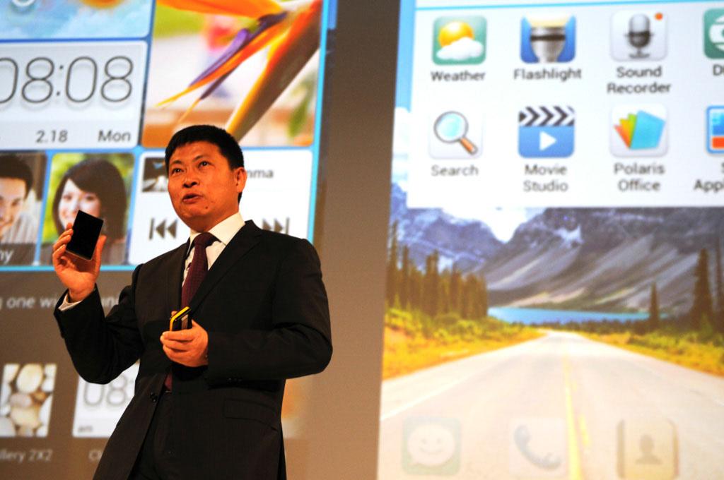 HSTA. Barcelona, Spain. Huawei Ascend P2 Launch Event at Mobile World Congress 2013. writer: Petri Sajari. Mr. Richard Yu CEO of Huawei Consumer.