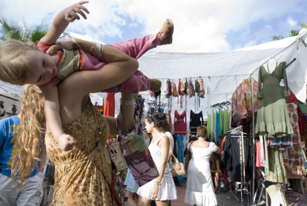 the hippie market Las Dalias in the northeast of the island