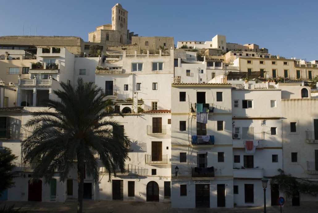 The historic town with the Cathedral on the top