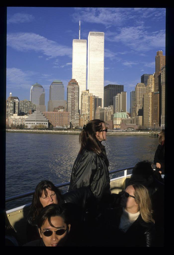 View of the Lower Manhattan skyline