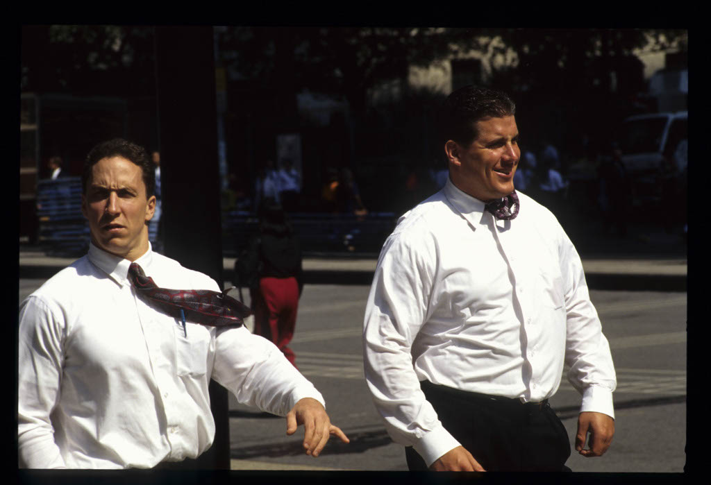 men walking, Financial District
