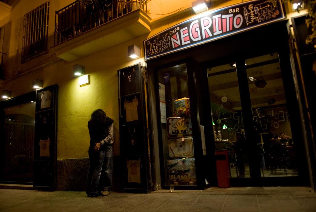 Valencia, Spain. CafÈ Negrito in the old city