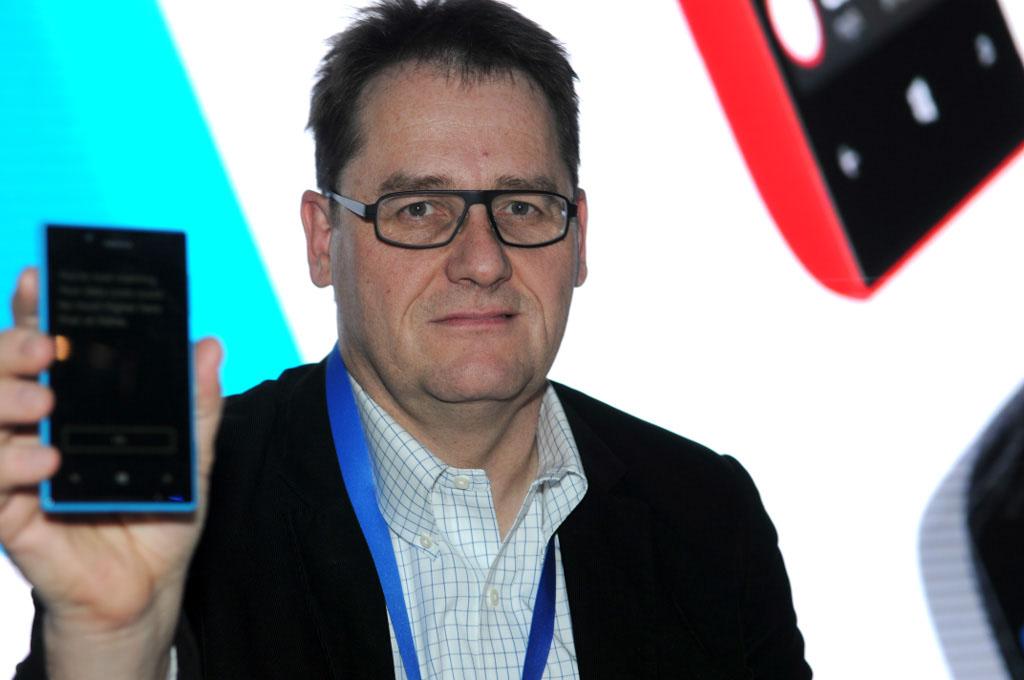Barcelona, Spain. Mobile World Congress: NOKIA. Mr. Michael Halbherr, executive vice president.