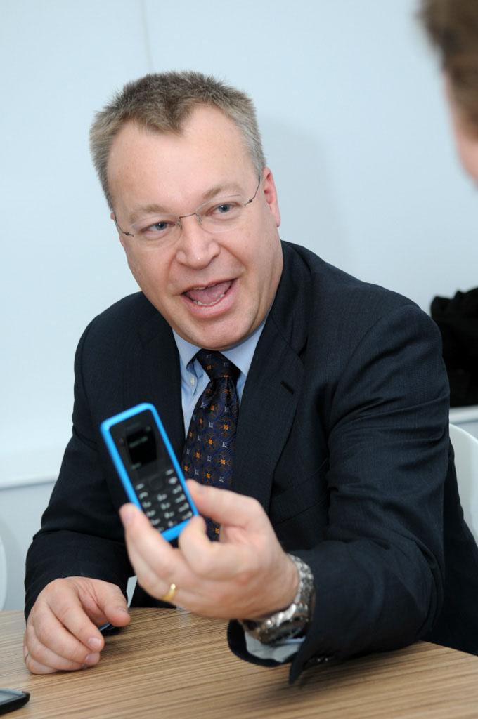 Barcelona, Spain. Mobile World Congress. Stephen Elop.
