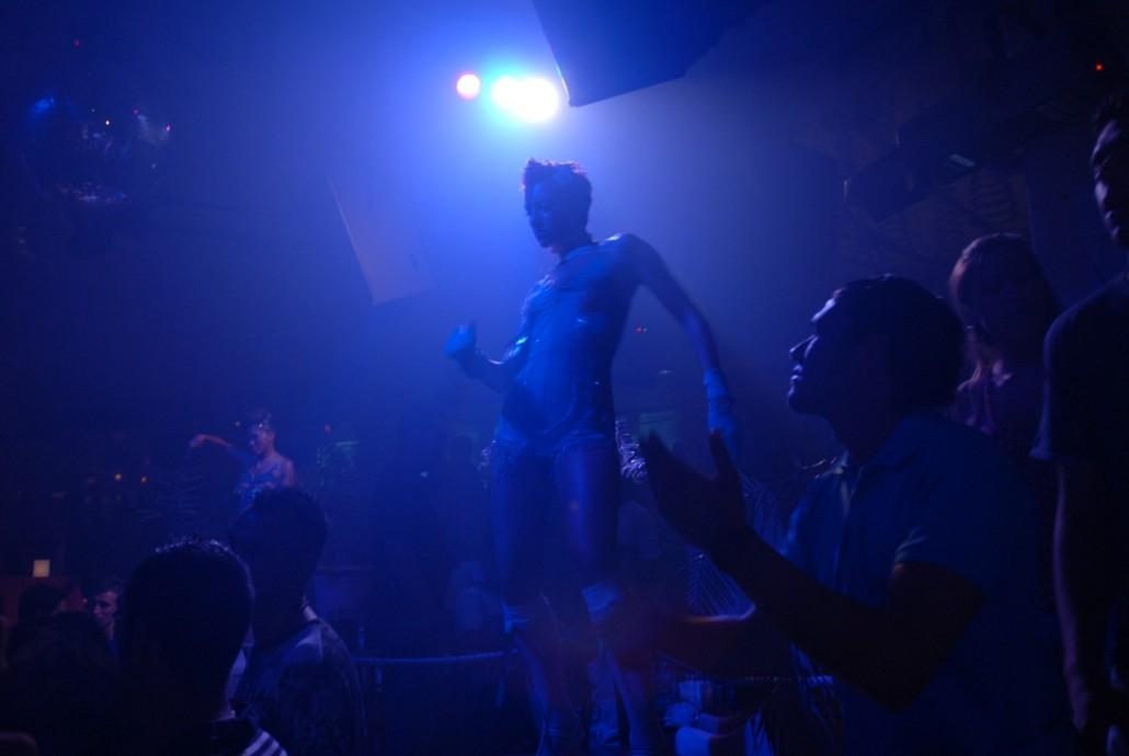 Saturday night in the club Pacha