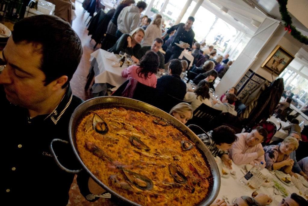 Valencia, Spain. Restaurant L'Estimat on Sunday afternoon.