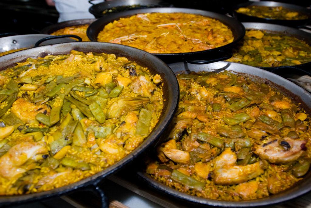 Paella Valenciana, typical disch