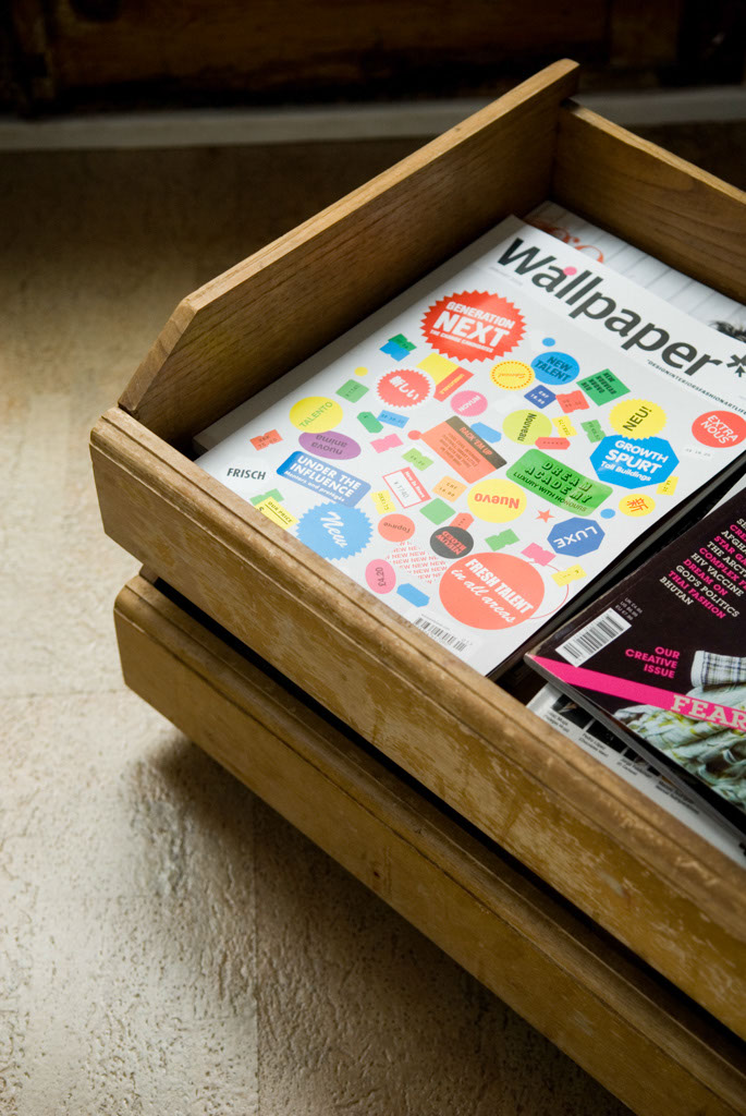 Storage on wheels made from recycled drawers found in the street. DIY. Eco cork floor by Wicanders