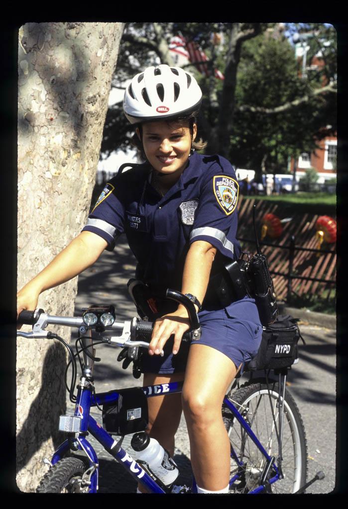 Police oficer on a bike, Washington Square