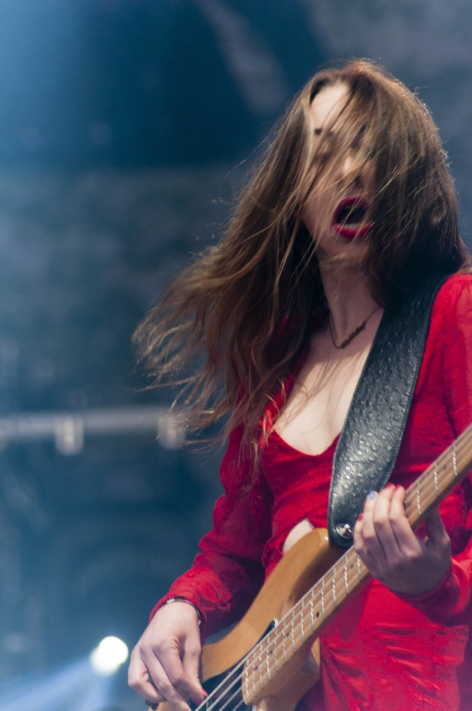 Barcelona, Spain. Primavera Sound 2014. Este Haim at the HAIM concert.