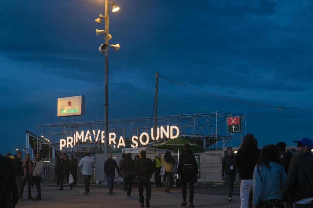 Barcelona, Spain. Primavera Sound 2014. The main entrance.