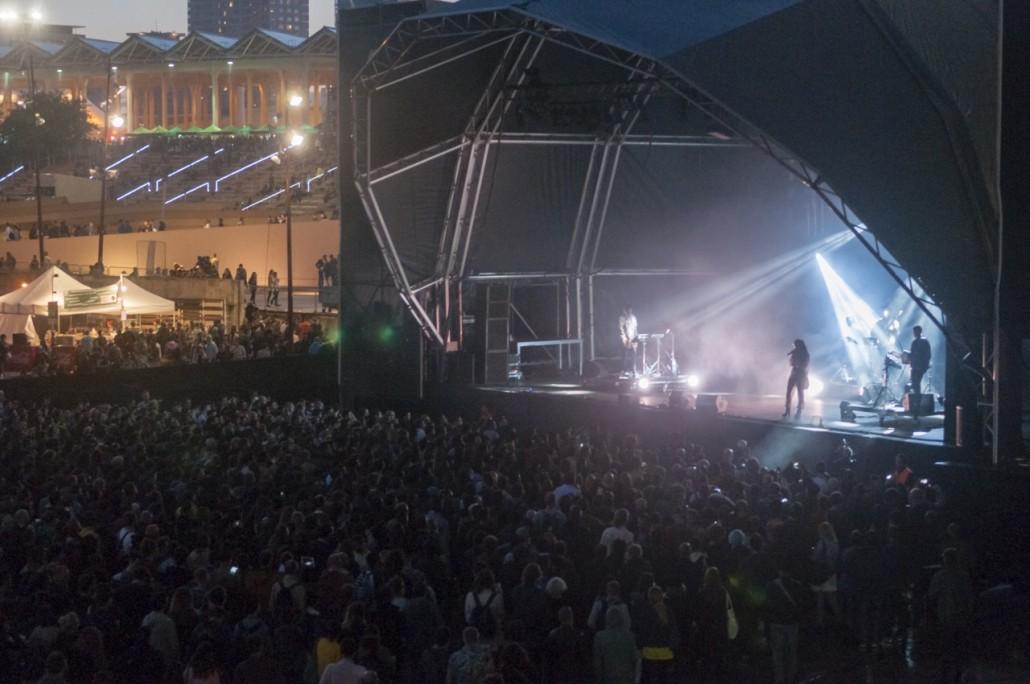Barcelona, Spain. Primavera Sound 2014. FKA Twigs at the Pitchfork stage.