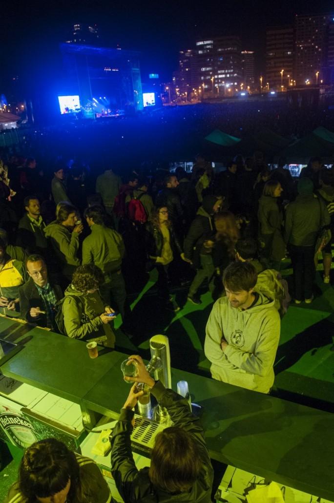 Barcelona, Spain. Primavera Sound 2014. VIP are in front ot the Heineken stage.