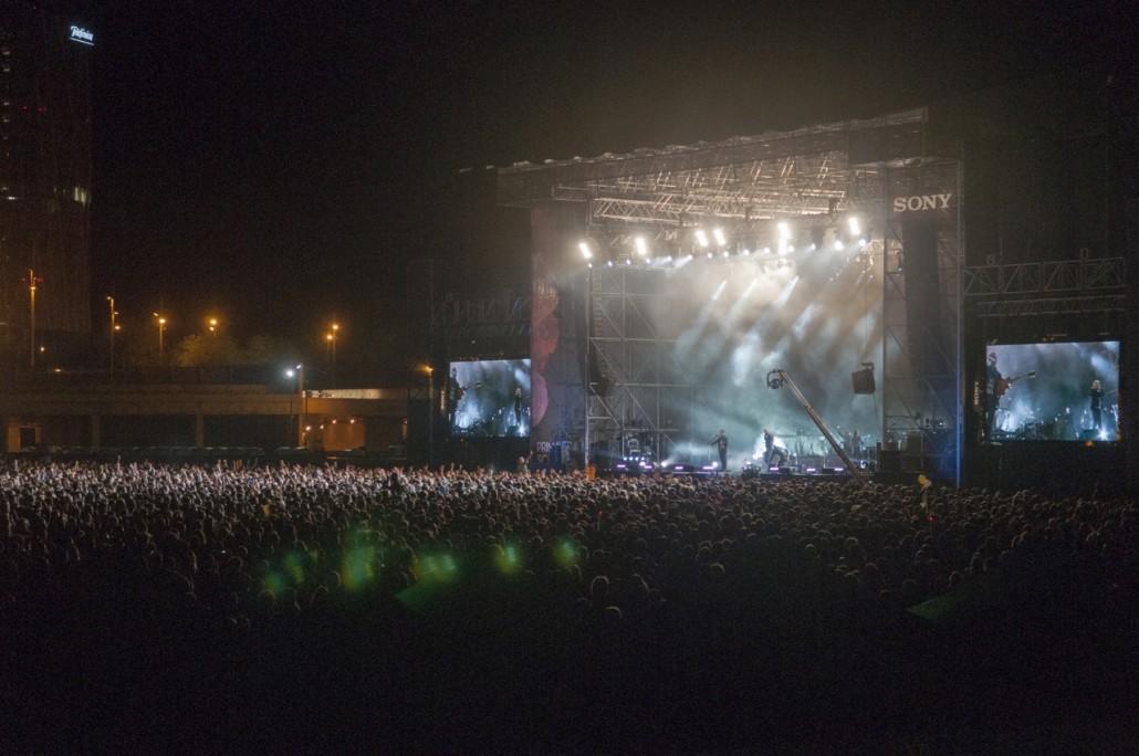 Barcelona, Spain. Primavera Sound 2014. The National band concert.