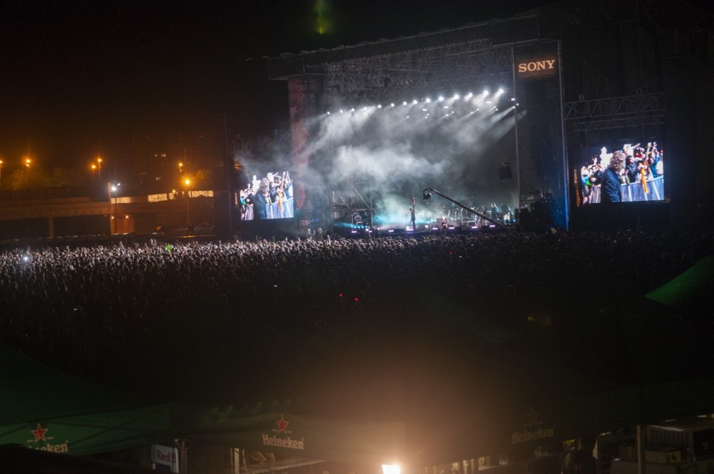 Barcelona, Spain. Primavera Sound 2014. Sony stage during the concert of The National.