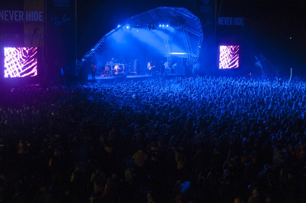 Barcelona, Spain. Primavera Sound 2014. Jagwar Ma concert at the Ray-ban stage.