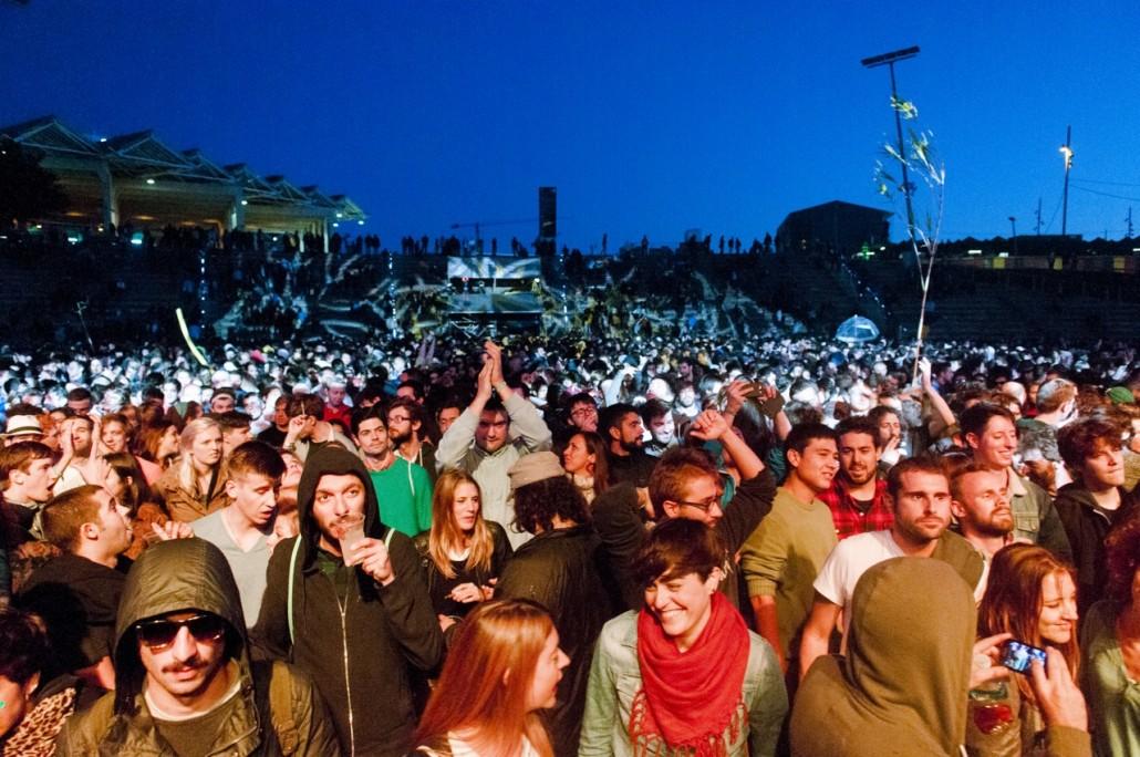 Barcelona, Spain. Primavera Sound 2014. Public at the Laurent Garnier show.