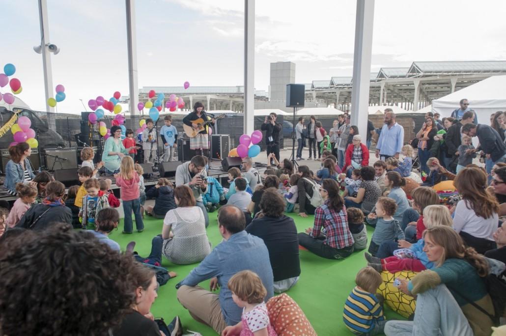 Barcelona, Spain. Primavera Sound 2014. Joana Serrat concert at the children area.