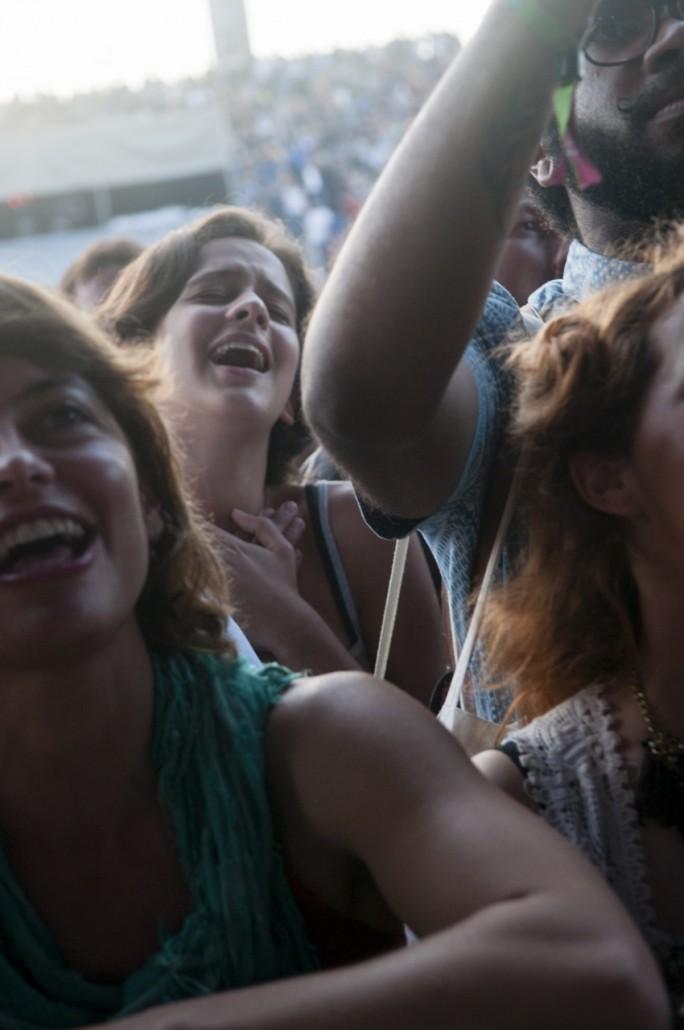 Public at the Caetano Veloso concert.