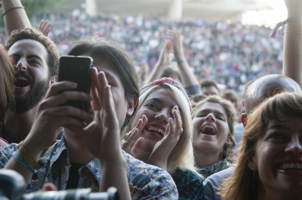 Barcelona, Spain. Primavera Sound 2014. Public at the Caetano Veloso concert.
