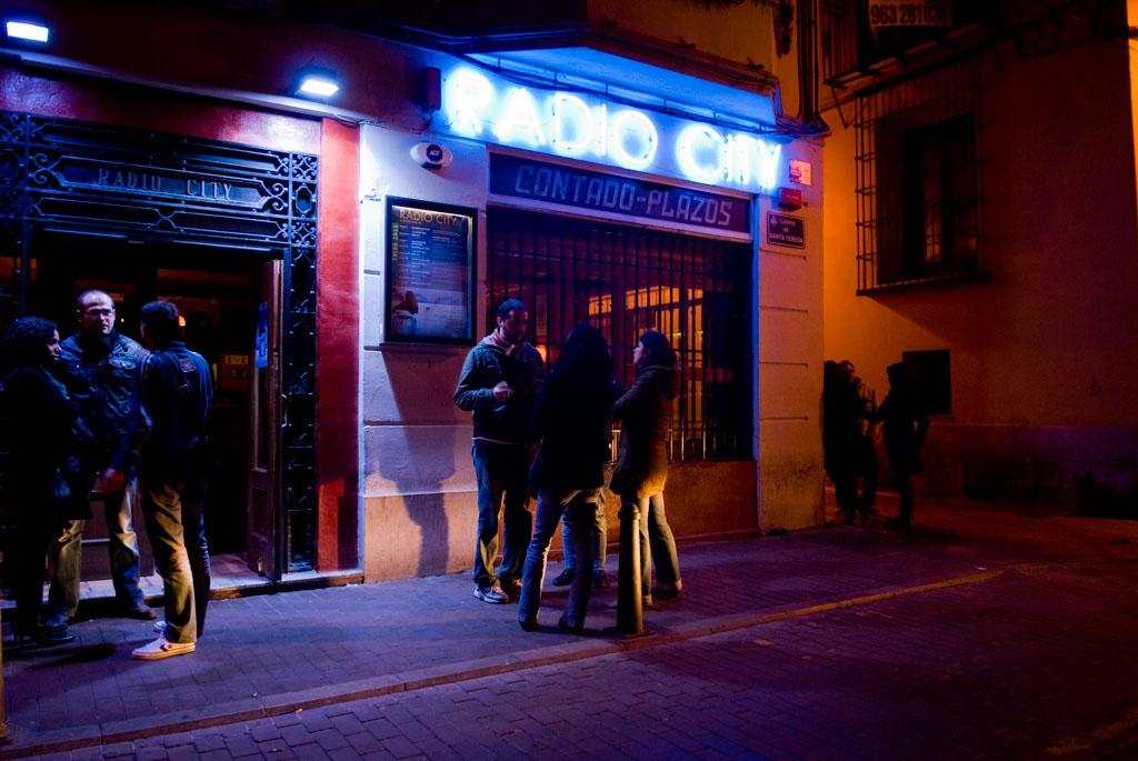 Valencia, Spain. RadioCity in the old city.
