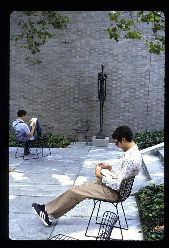 People reading at the MOMA