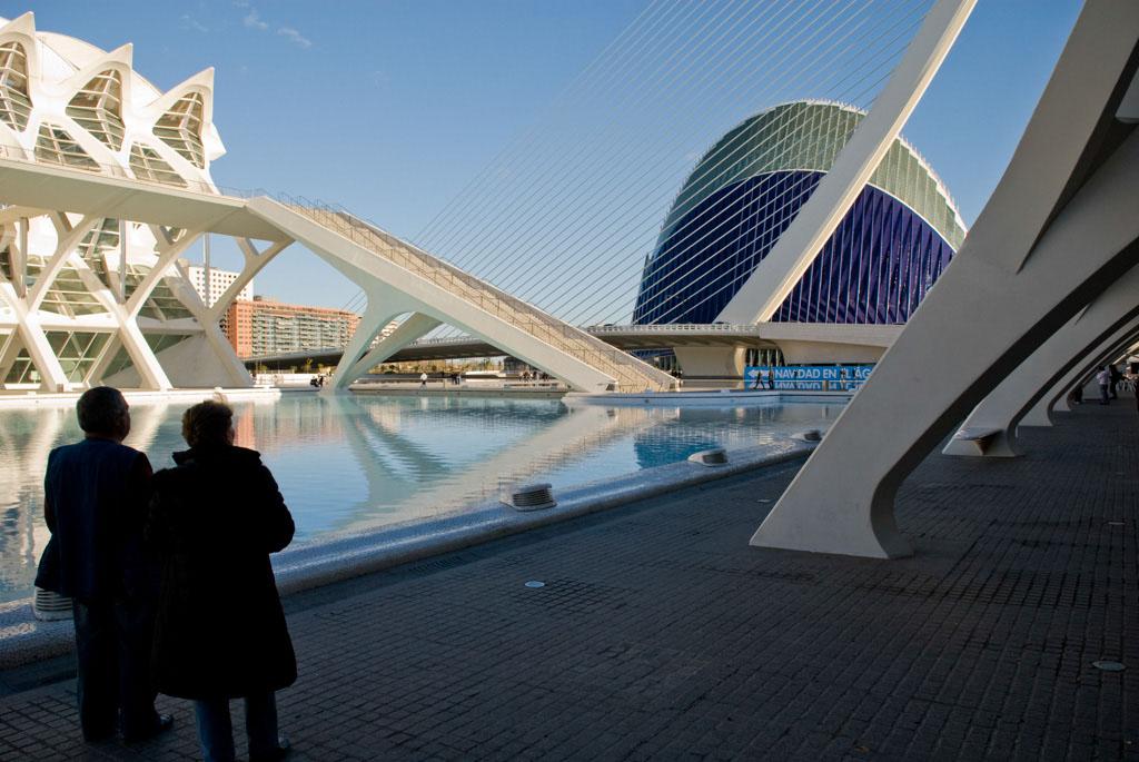 Valencia, Spain. City of Arts and Sciences. .