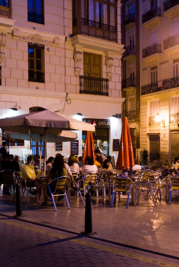 CafÈ Terrace at Night, Valencia, Spain