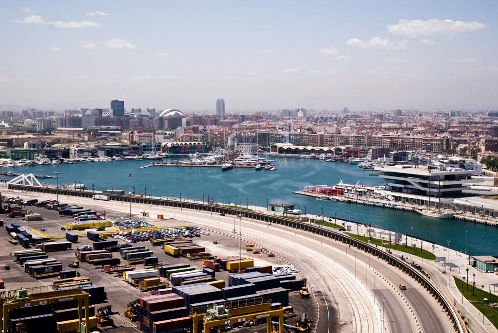 the port of Valencia, Spain